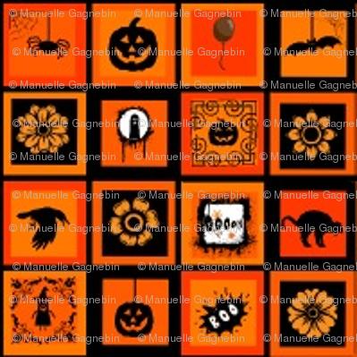 Carrés Halloween-divers