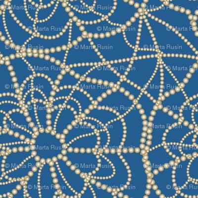 spiderweb on blue