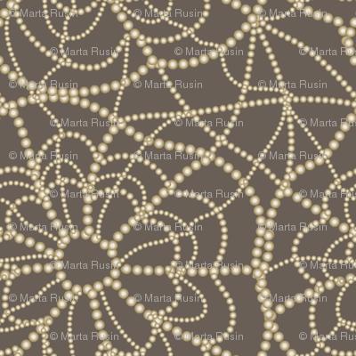 spiderweb on brown