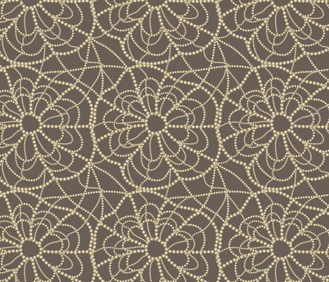 spiderweb on brown fabric by kociara on Spoonflower - custom fabric