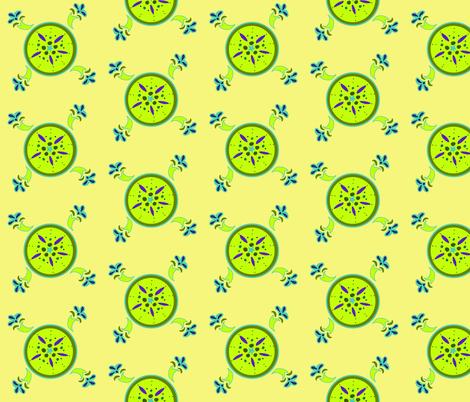 Kiwi fabric by leahvanlutz on Spoonflower - custom fabric