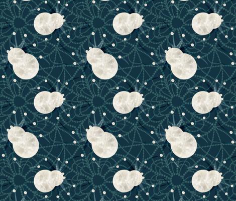 spiderweb midnight fabric by kociara on Spoonflower - custom fabric