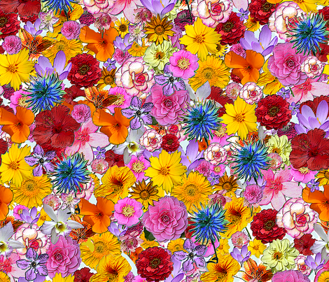 Millefiori- bigger version fabric by koalalady on Spoonflower - custom fabric