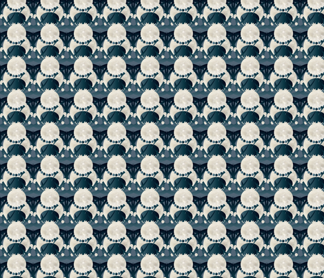spider march on blue fabric by kociara on Spoonflower - custom fabric