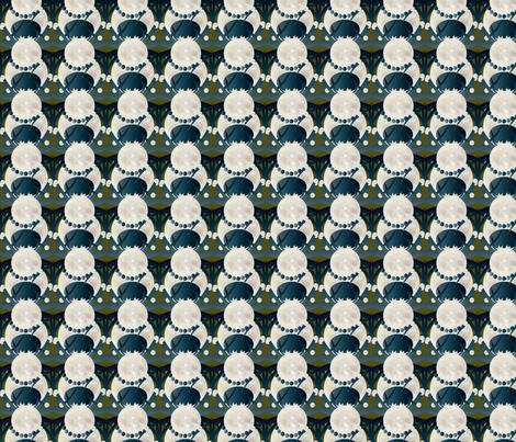 spider march on green fabric by kociara on Spoonflower - custom fabric