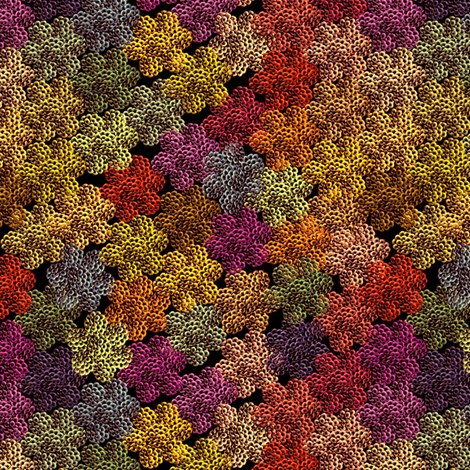 crochet autumn foliage fabric by glimmericks on Spoonflower - custom fabric