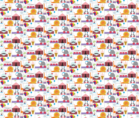 Circus Party fabric by giantpeanut on Spoonflower - custom fabric