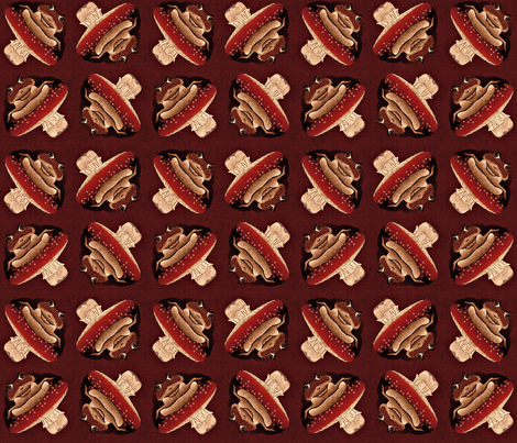 tumbling toadstools red fabric by glimmericks on Spoonflower - custom fabric