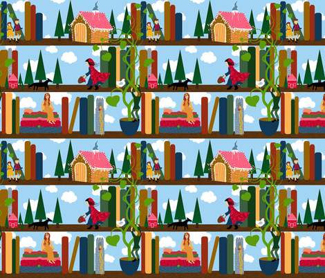 My childhood library proofed fabric by vo_aka_virginiao on Spoonflower - custom fabric