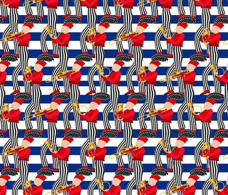 All American Marching Band  fabric by vo_aka_virginiao on Spoonflower - custom fabric