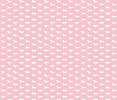 White Pony on Pink fabric by thistleandfox on Spoonflower - custom fabric