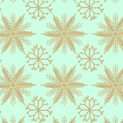 nordic glitter fabric by glimmericks on Spoonflower - custom fabric