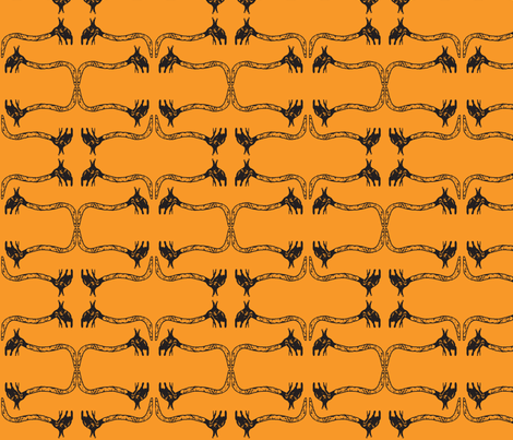 Creepy Crawlies No. 1 (Orange) fabric by lisulle on Spoonflower - custom fabric