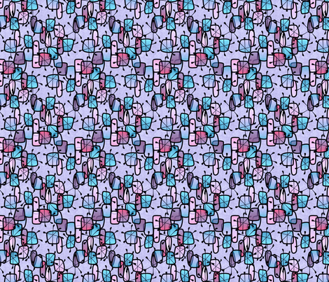 snow and ice fabric by glimmericks on Spoonflower - custom fabric