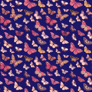 Butterflies on Indigo