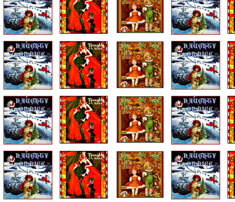 Naughty or Nice fabric by whimzwhirled on Spoonflower - custom fabric