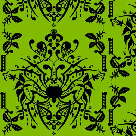 Spider Damask fabric by jadegordon on Spoonflower - custom fabric