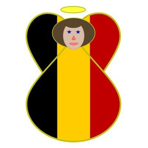 Belgian Flag Angel Brown Hair