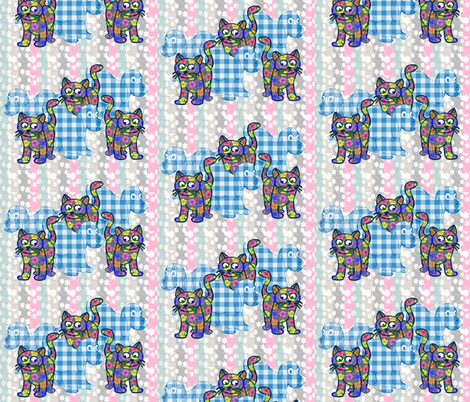 The Gingham Dog and The Calico Cat fabric by dogdaze_ on Spoonflower - custom fabric