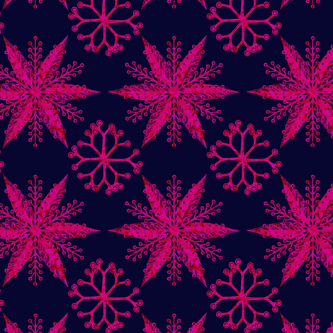 nordic_glitter cranberry rock fabric by glimmericks on Spoonflower - custom fabric