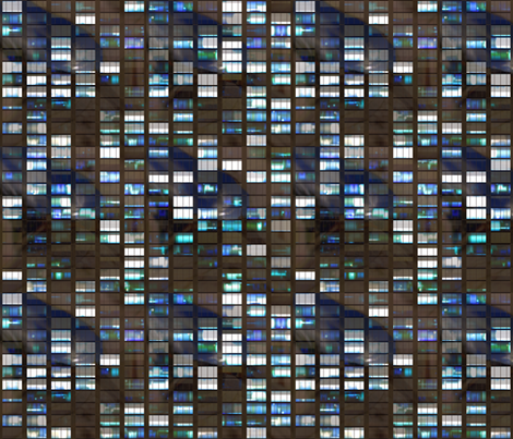 Skyscraper by night fabric by bonnie_phantasm on Spoonflower - custom fabric