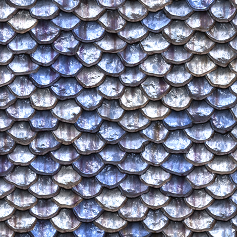 Mermaid Scales - Blue fabric by bonnie_phantasm on Spoonflower - custom fabric