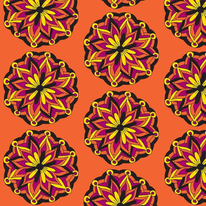 orange mandala flower