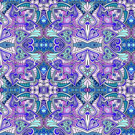 Stupid Cupid is Feeling Kind of Blue fabric by edsel2084 on Spoonflower - custom fabric