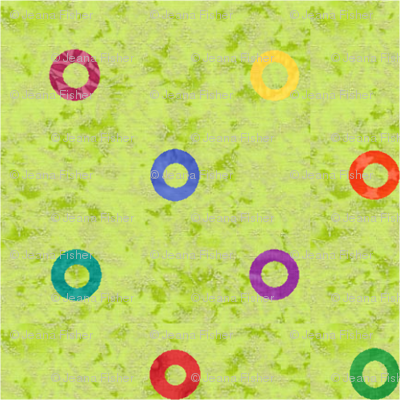 primary dots on green