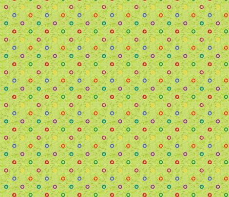 primary dots on green fabric by quiltpatch_girl on Spoonflower - custom fabric