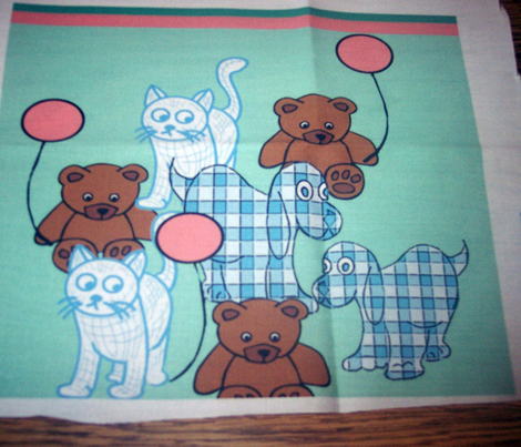 Baby Toys Wallpaper Border Fabric Dogdaze Spoonflower
