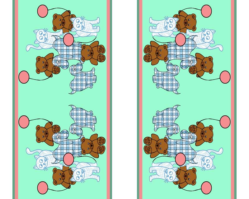 Baby Toys Wallpaper Border Wallpaper Dogdaze Spoonflower