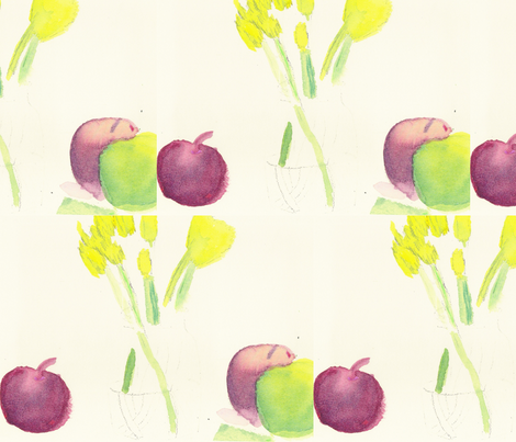 Fruits and Tulips fabric by artist55 on Spoonflower - custom fabric