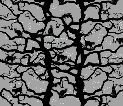 Spooky Tree fabric by horn&ivory on Spoonflower - custom fabric