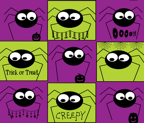 kellys-creepy-crawlies2-ed fabric by kfrogb on Spoonflower - custom fabric
