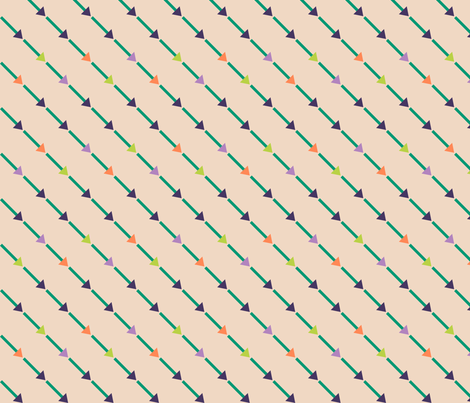 Bias Arrows fabric by modgeek on Spoonflower - custom fabric