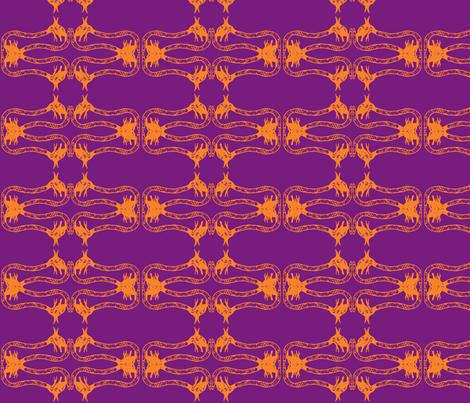 Creepy Crawlies No. 2 (Purple & Orange) fabric by lisulle on Spoonflower - custom fabric