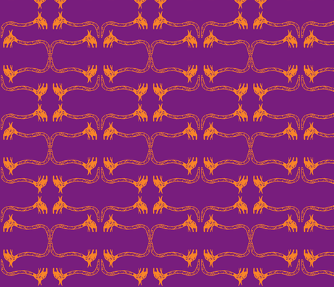 Creepy Crawlies No. 1 (Purple & Orange) fabric by lisulle on Spoonflower - custom fabric