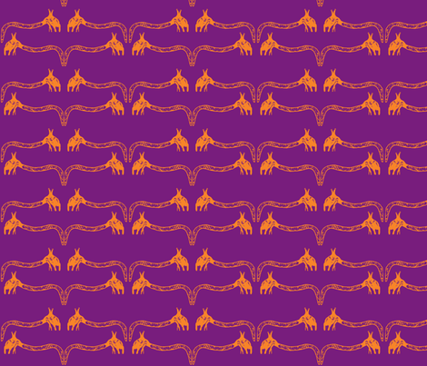Creepy Crawlies No. 3 (Purple & Orange) fabric by lisulle on Spoonflower - custom fabric