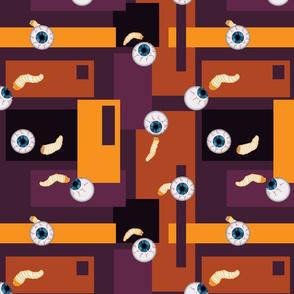 Eyeballs and maggots - Color Blocked!