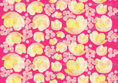 Hot pink garden