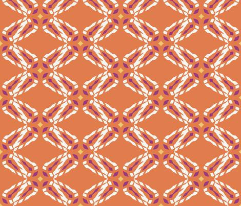 Earth_Angel_Ginger_Beer_cherubim_multi fabric by izeondesign on Spoonflower - custom fabric
