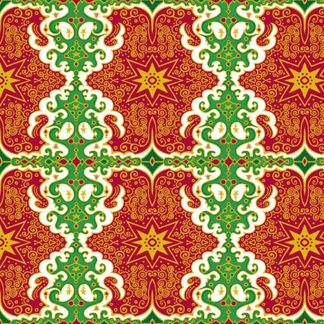 Circus Wagon Christmas fabric by tallulahdahling on Spoonflower - custom fabric