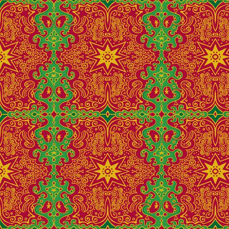 CircusWagonXmas -2 fabric by tallulahdahling on Spoonflower - custom fabric