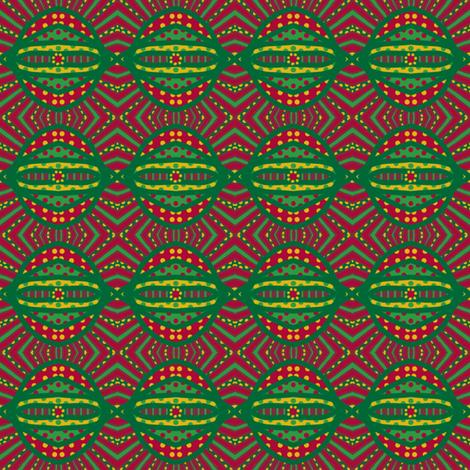 Circus Wagon Xmas: Xmas Ball fabric by tallulahdahling on Spoonflower - custom fabric