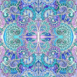 Enchanted Forest of Blue and Lavender