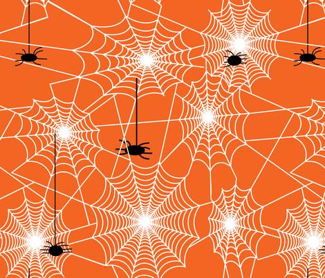 spiderwebby-01 fabric by hollyakkerman on Spoonflower - custom fabric