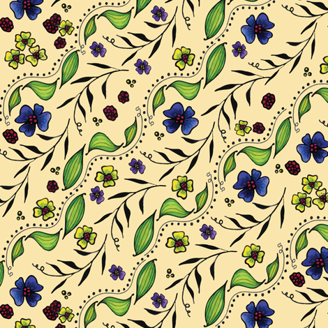 April Truly Leaves fabric by kari_d on Spoonflower - custom fabric