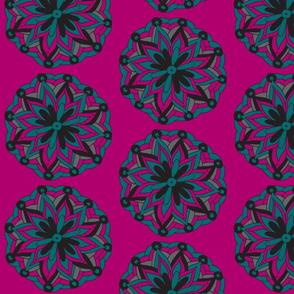plum  mandala flower