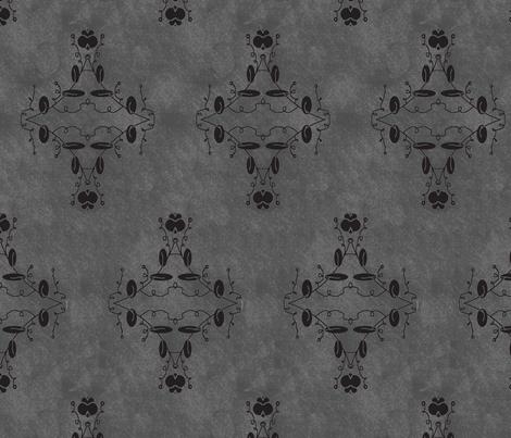 Gray and Black Grunge Damask fabric by captiveinflorida on Spoonflower - custom fabric